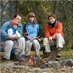 Why not take your backyard fire into the wilderness on a camping trip? (Image Credit:http://www.adirondackdiamondpointlodge.com/)