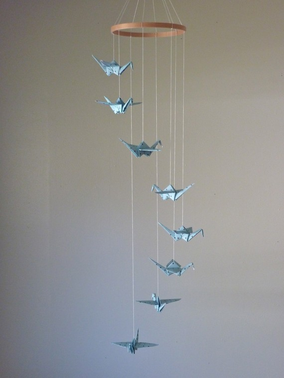 Origami Crane Mobile Baby Mobile Children Decor Eco Friendly ... | 760x570