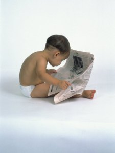 Hey, you never know! (Image Credit:http://www.art.com/products/p13797698-sa-i2757940/david-davis-baby-reading-newspaper.htm)