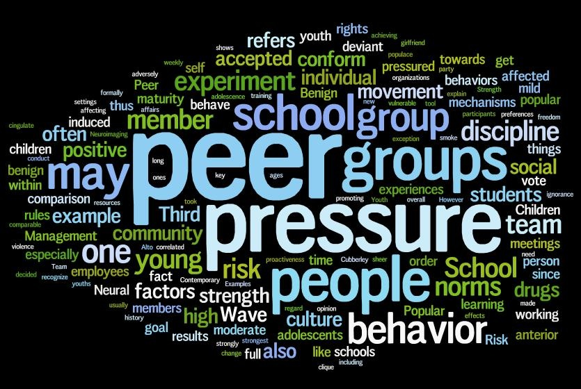 the common sources of peer pressure A peer is someone at your own level  that's peer pressure in the sport of  an associate in an activity or endeavor or sphere of common interest.