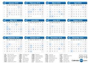 Image Source:  http://www.calendar-365.com/2016-calendar.html